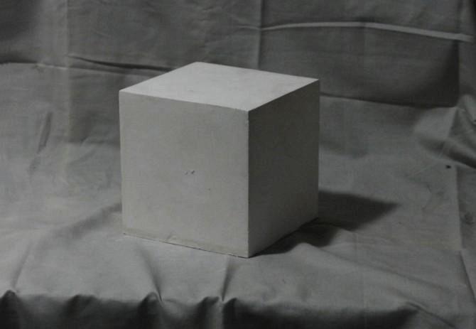 石膏几何体素描