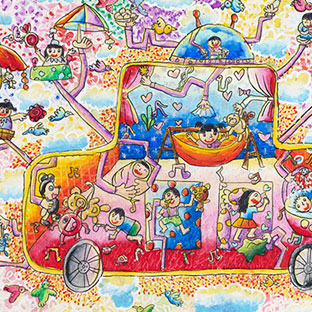 IYAA少儿绘画大赛11 预估拍卖价:CNY35,000
